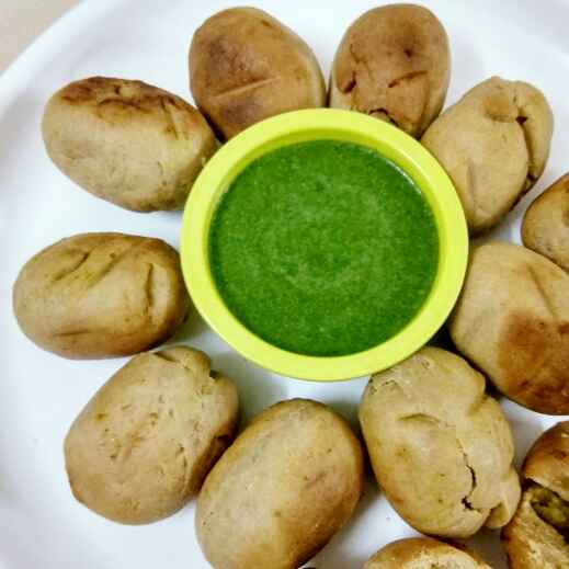 How to make Matar bhari bati