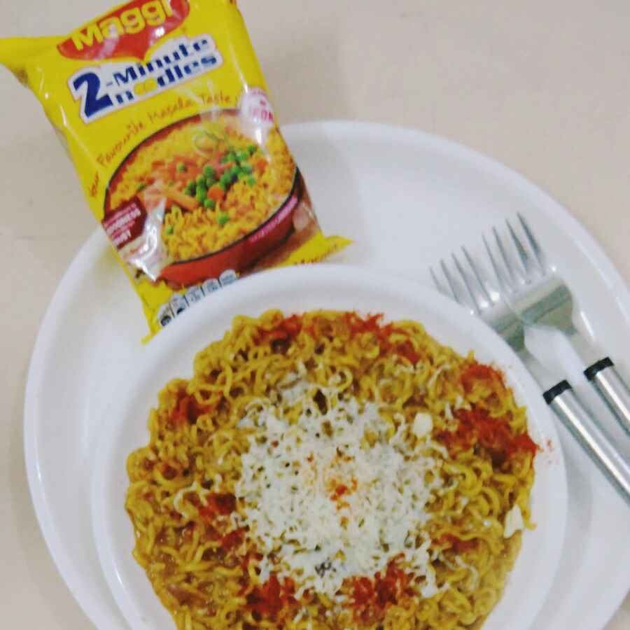 How to make Cheese Schezwan Maggi