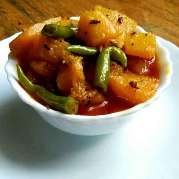 How to make कद्दू की सब्जी।