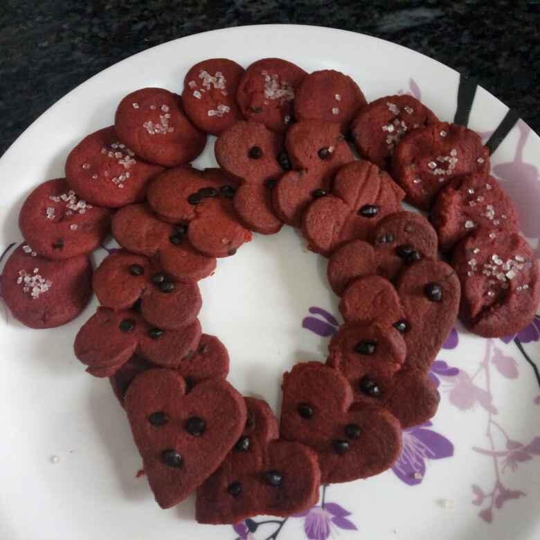 Photo of Beetroot cookies by vandana pundir at BetterButter