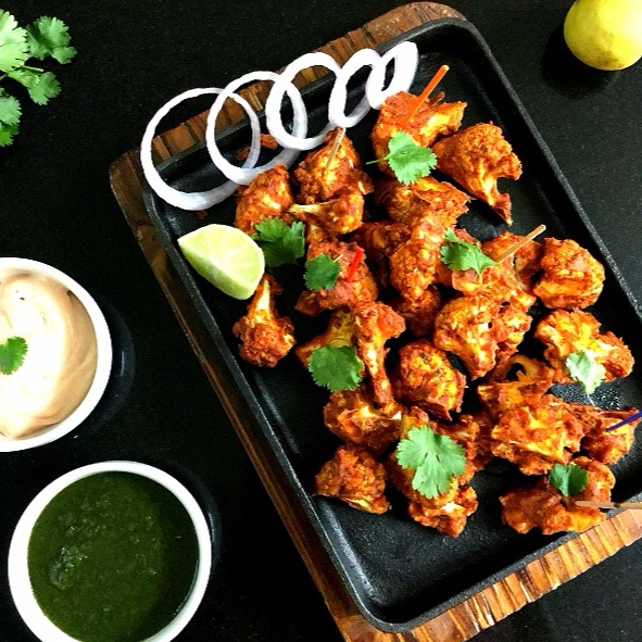 How to make Tandoori Gobi Tikka/Baked Cauliflower Bites