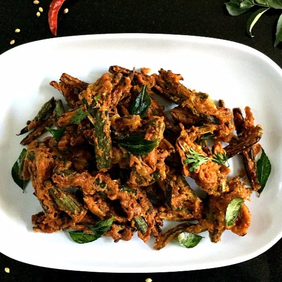 Photo of Bhindi Kurkuri/Crispy Fried Lady Finger by Vanitha Bhat at BetterButter