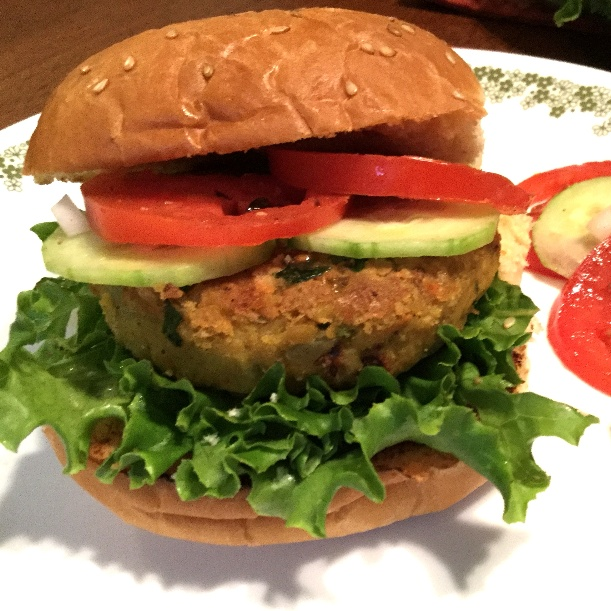 Photo of Chickpea Masala Veggie Burgers by Vanitha Bhat at BetterButter