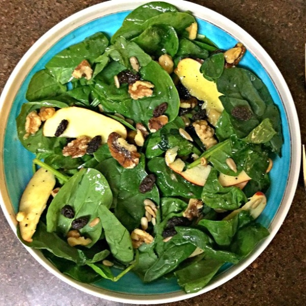 Photo of Spinach, Walnuts and Apple Salad by Vanitha Bhat at BetterButter
