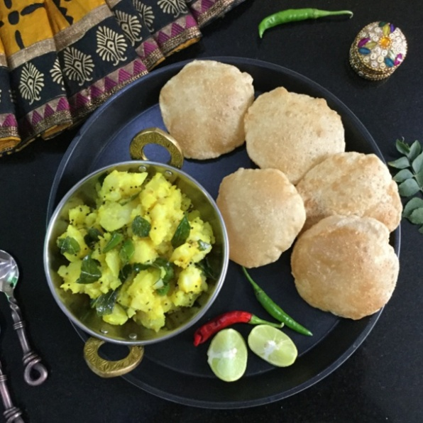 Photo of PURI AND MULKI BHAJI by Vanitha Bhat at BetterButter