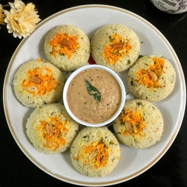 How to make OATS AND RAVA IDLI (WITH COCONUT CHUTNEY)