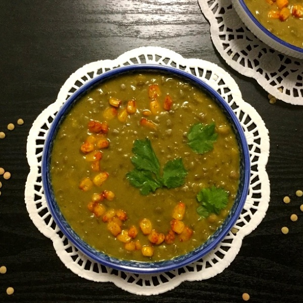 How to make Creamy Corn and Lentil Soup
