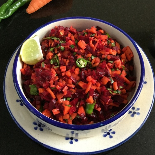 How to make Healthy Raw Carrot and Beetroot Salad