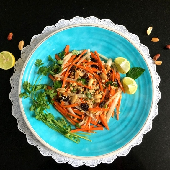 How to make DAIKON AND CARROT SALAD with Homemade Dressing