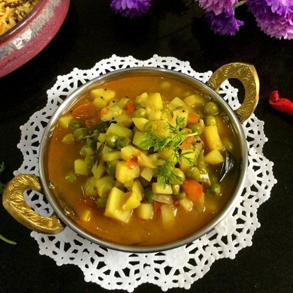 Photo of PRESSURE COOKER ALOO MATAR by Vanitha Bhat at BetterButter