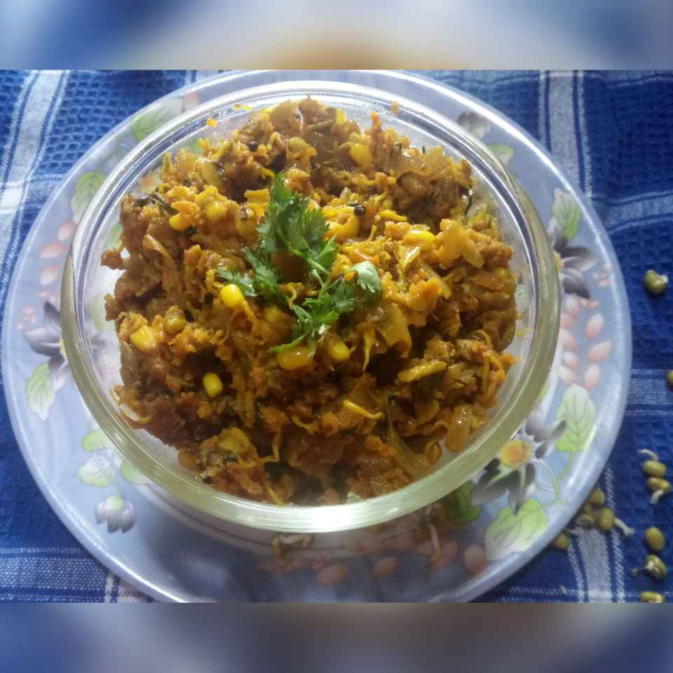 Photo of Sprouted moong ,mrthi zunka by Varsha Deshpande at BetterButter