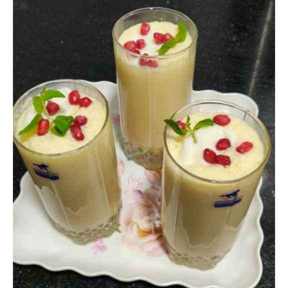 Photo of Musk melon shake with shrikhand by Varsha Deshpande at BetterButter