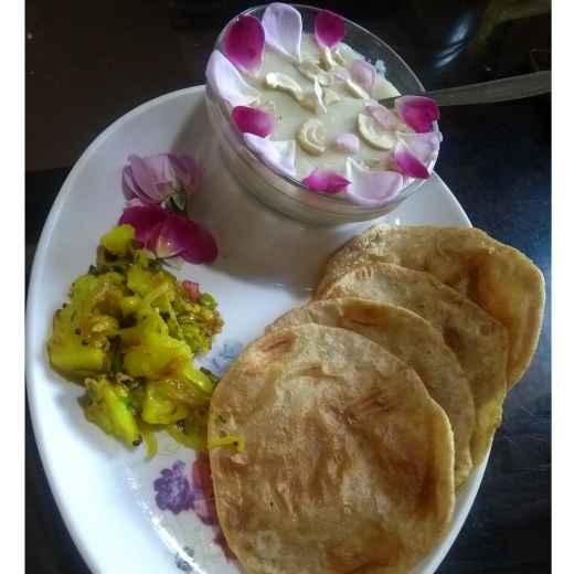 Photo of Poha Kheer ,puri by Varsha Deshpande at BetterButter