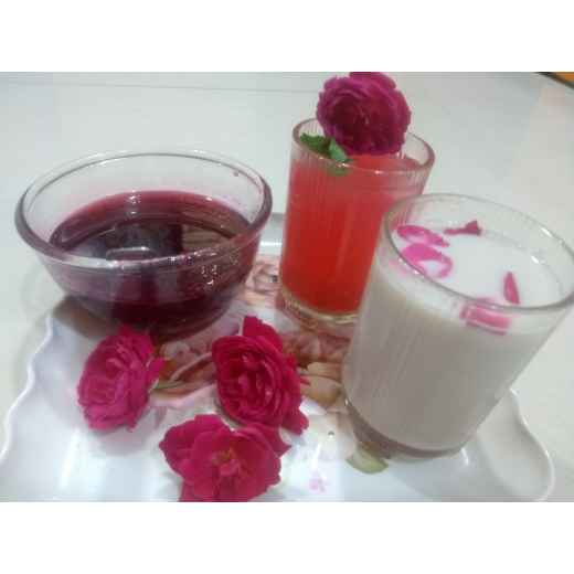 Photo of Homemade  rose  syrup . by Varsha Deshpande at BetterButter