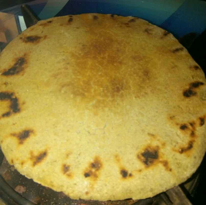 Photo of Bajri rotlo and moong in curd by Varsha Joshi at BetterButter