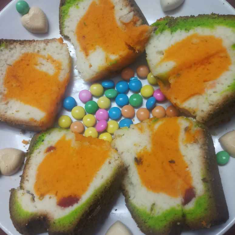 Photo of Tri colour vanila cake by Vasuki Pasupuleti at BetterButter