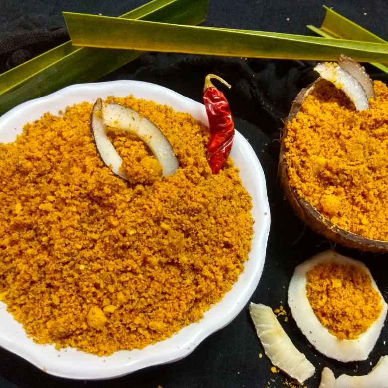 How to make Andhra Kobbari Karam podi/ Dry coconut powder