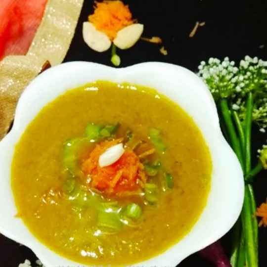Photo of Spring onion carrot badam soup by Aruna Saraschandra at BetterButter