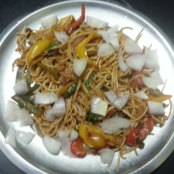 How to make butter hakka noodles home style  restaurant