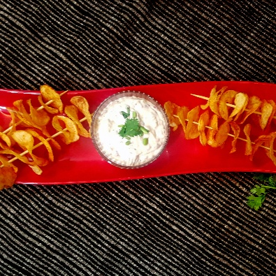 How to make Homemade Baked Potato Chips with Caramelized French Onion Dip
