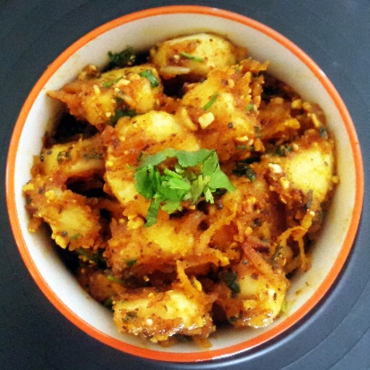 Photo of Kela Masala Sabzi (Banana Dry Curry with Spices) by Vibha Bhutada at BetterButter