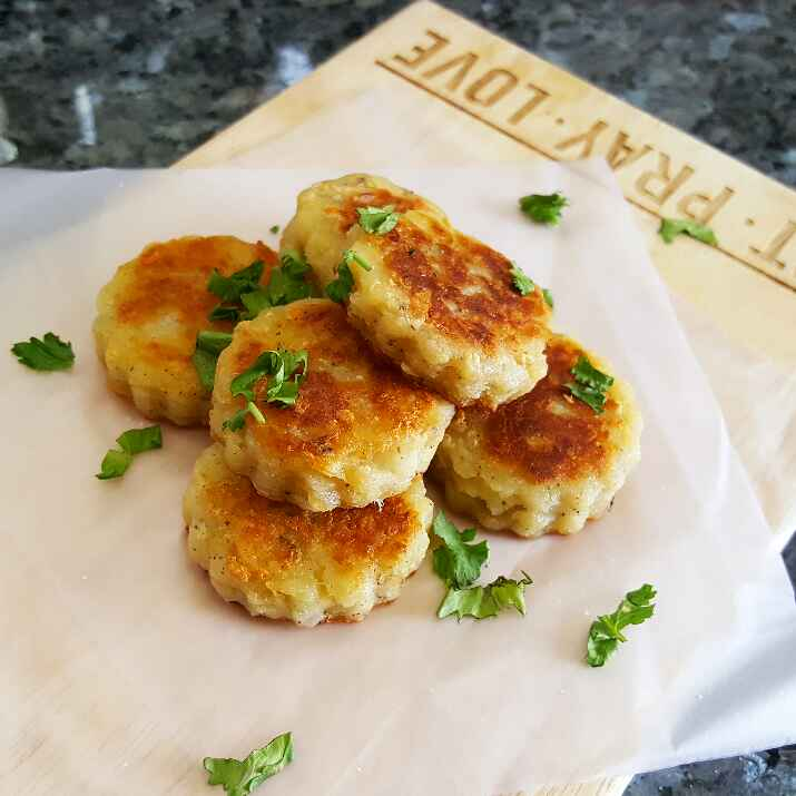 Photo of Leftover Mashed Potato Cheddar Ranch Cakes by Vibha Bhutada at BetterButter