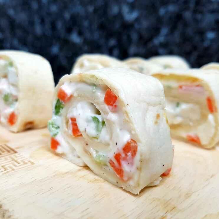 How to make Vegetarian Tortilla Pinwheels