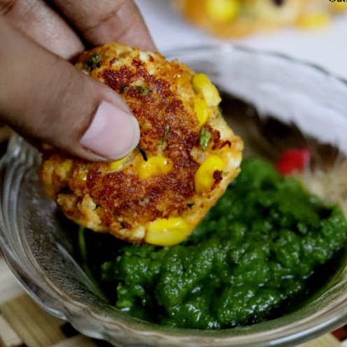 How to make Oats, Paneer and Corn Tikkis or Cutlets