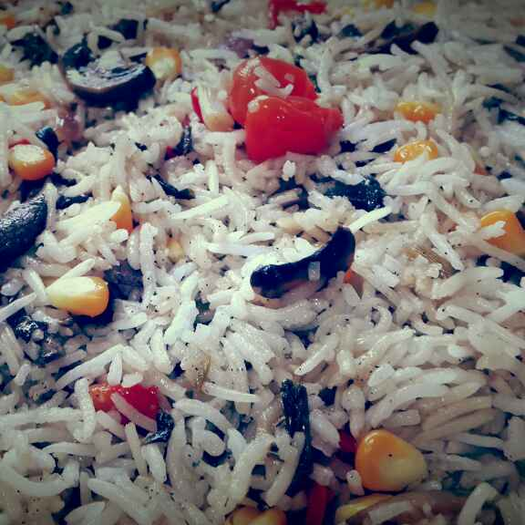 How to make Mushroom Corn Fried Rice