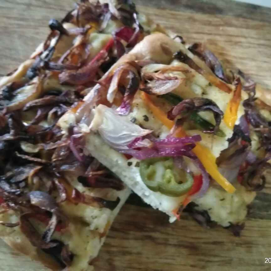 Photo of Caramelized onions focaccia bread by Vijaya Chinta at BetterButter