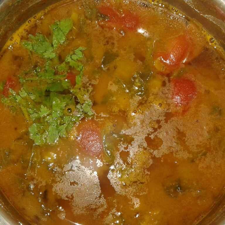How to make Keerai saambar
