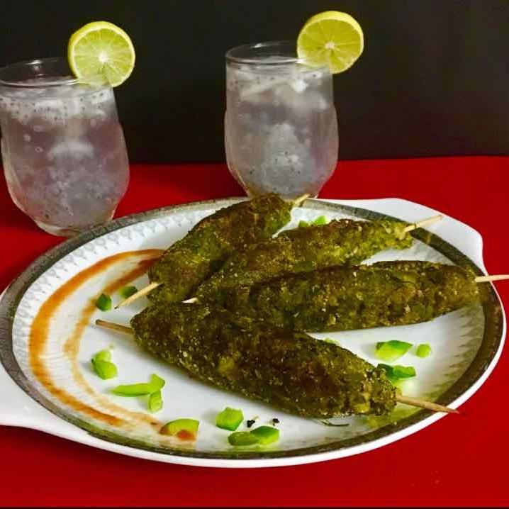 Photo of Haryali  Seekh Kebab by Vinita Mahamwal at BetterButter