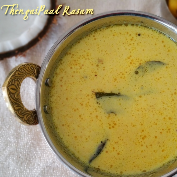 How to make Thengai Paal Rasam - Coconut Rasam