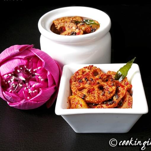 How to make Lotus Stem Pickle || Thamaraithandu Urugai