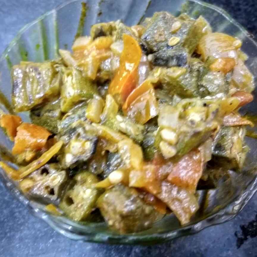 Photo of Tomato wali bhindi by Vinutha HK at BetterButter