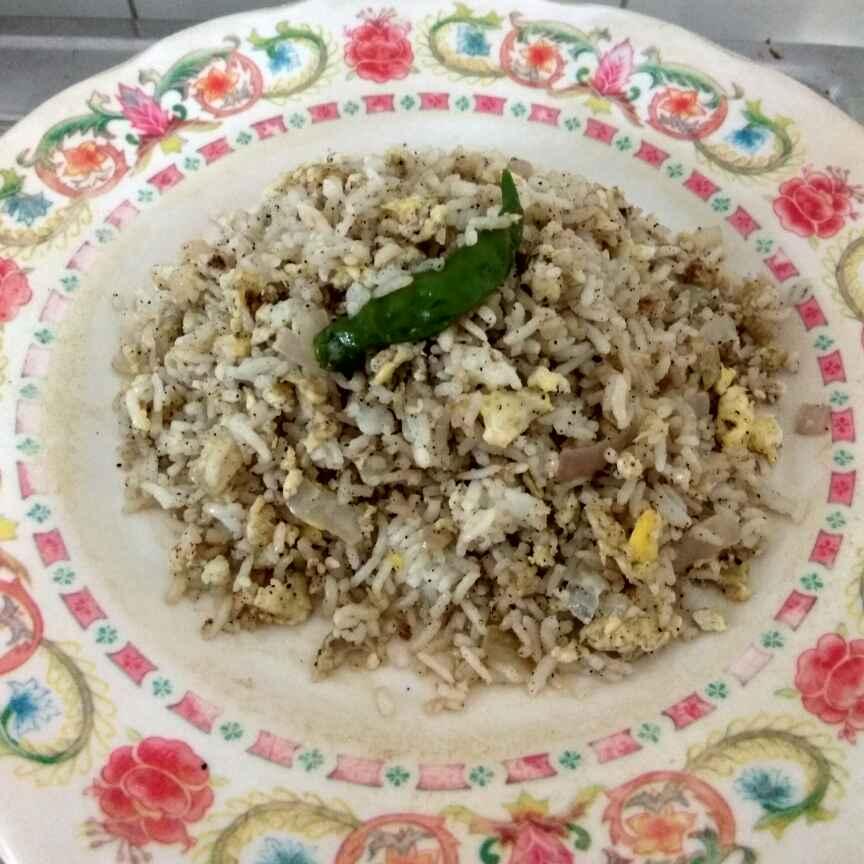 How to make Egg Pepper Rice