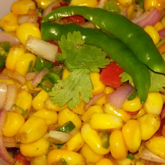 How to make Corn Chaat