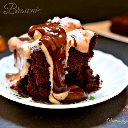 How to make Eggless Chocolate Brownie