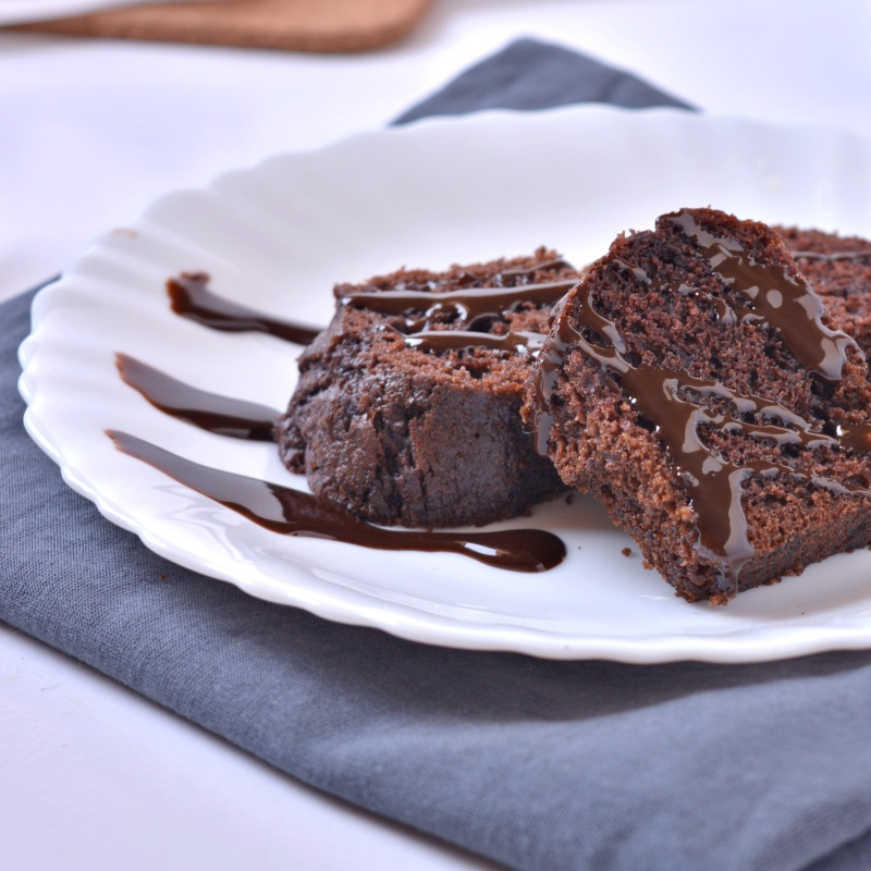 How to make Eggless chocolate cake with Molasses