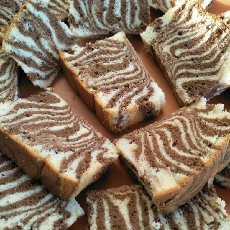 How to make Zebra cake (marble cake)