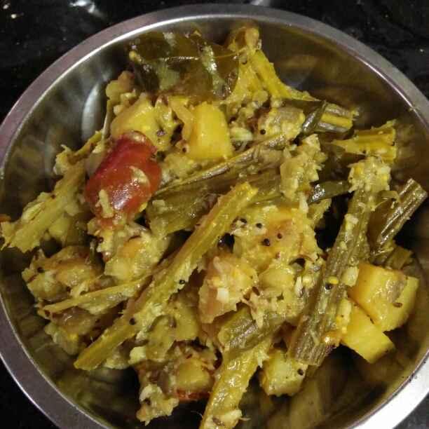 Photo of drumstick brinjal potato stir fry by Wahida Abdul Hameed at BetterButter