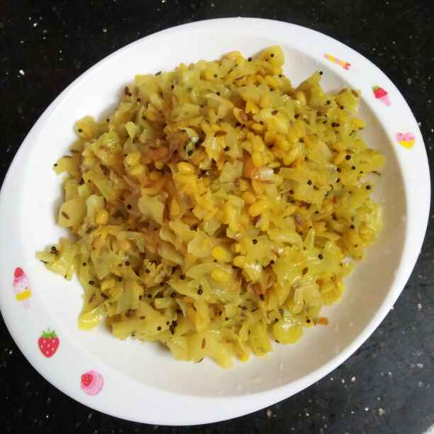Photo of Cabbage moongdal stir fry by Wahida Abdul Hameed at BetterButter