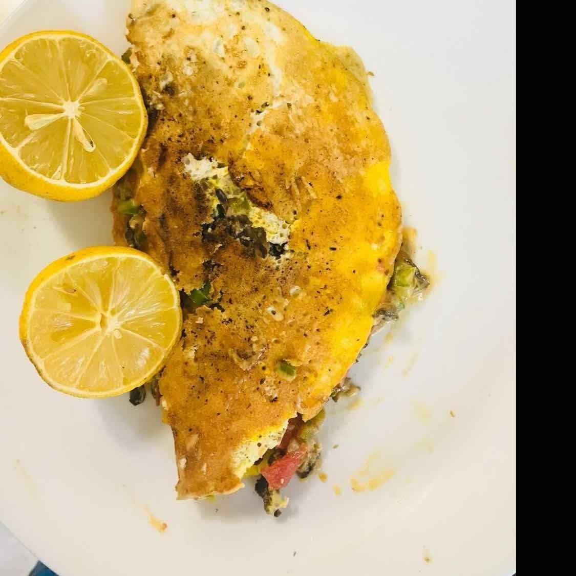 Photo of Vegetable Cheese Omelet by Wajithajasmine Raja mohamed sait at BetterButter