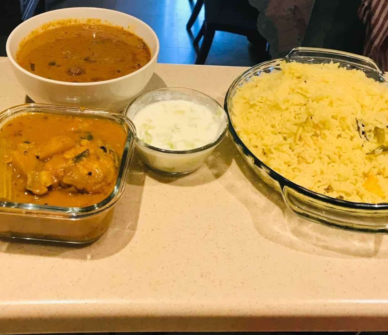 Photo of Coconut milk rice , Mutton curry, mutton bone dalcha by Wajithajasmine Raja mohamed sait at BetterButter