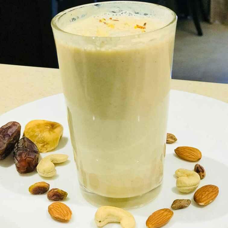 Photo of Dry Fruits Milk shake by Wajithajasmine Raja mohamed sait at BetterButter