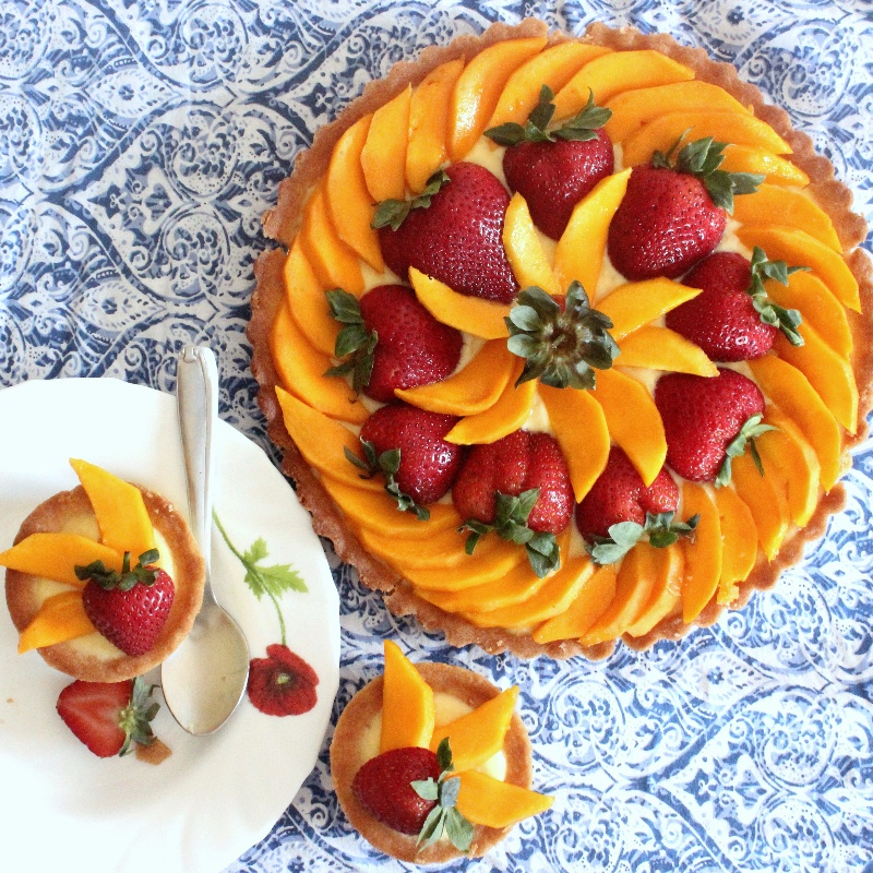How to make Mango Strawberry Tart