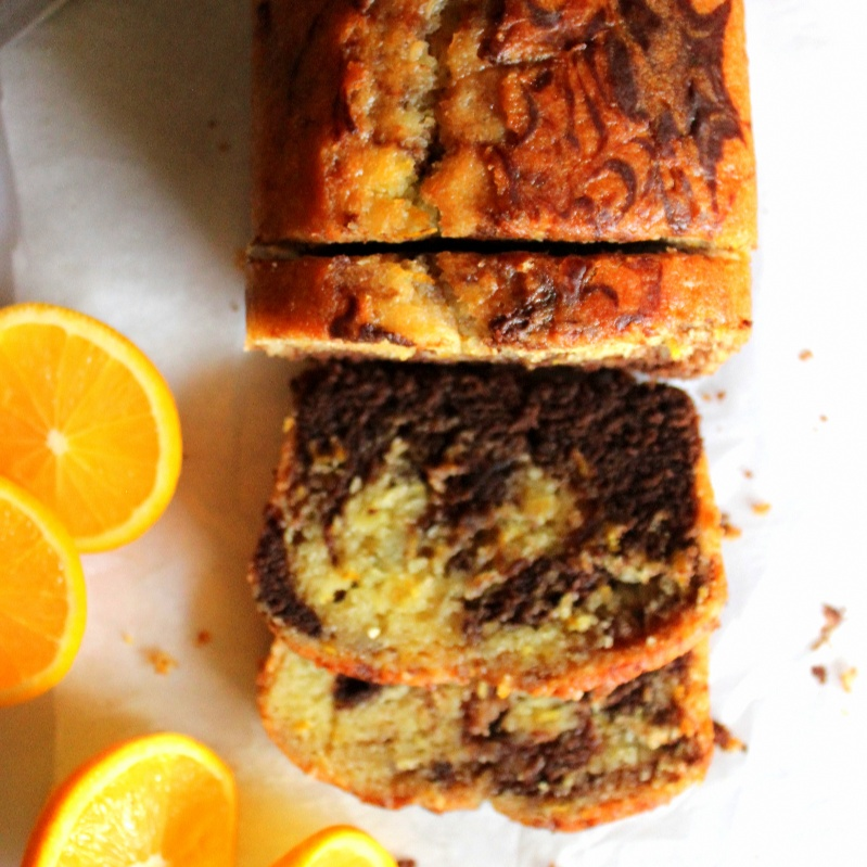 How to make Orange Chocolate Marble Cake