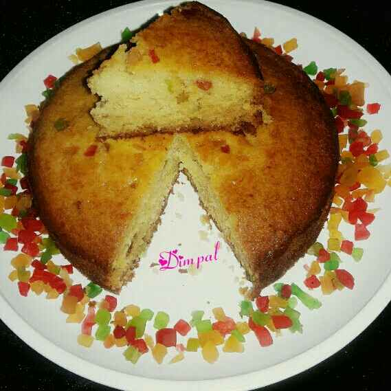 Photo of Tutti fruti hot milk cake by Dimpal Patel at BetterButter