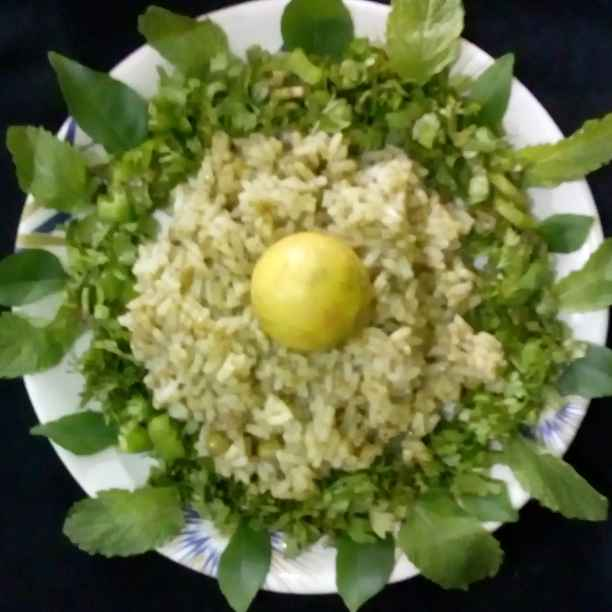 How to make green rice.