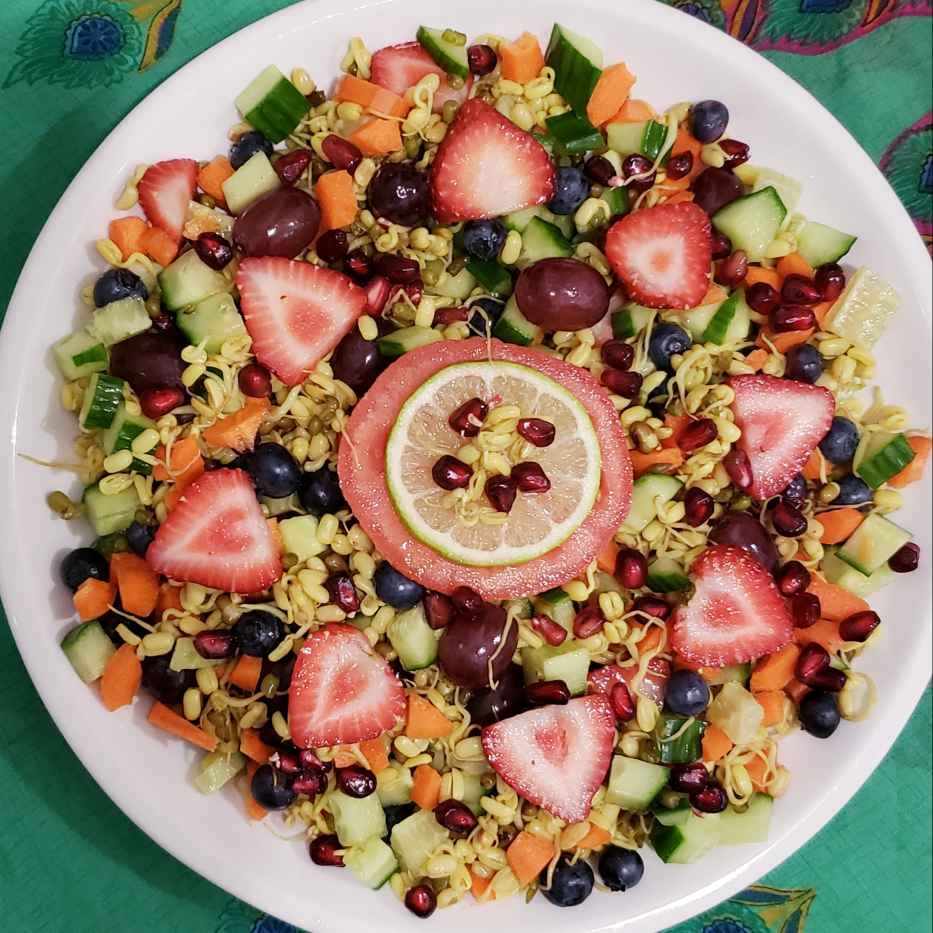 Photo of Sprouted moong salad by Yasmin Saiyed at BetterButter